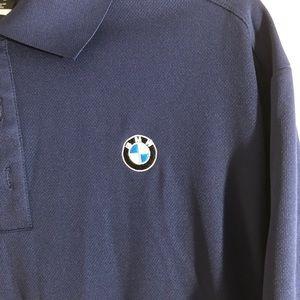 Nike golf polo with BMW logo